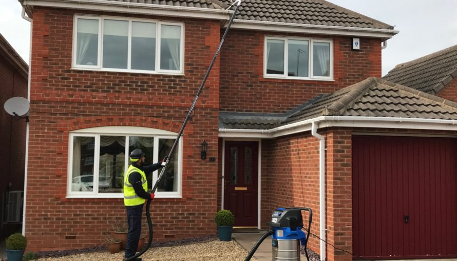 Gutter Cleaning System in Action