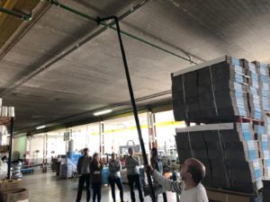 SpaceVac Industrial cleaning in a warehouse