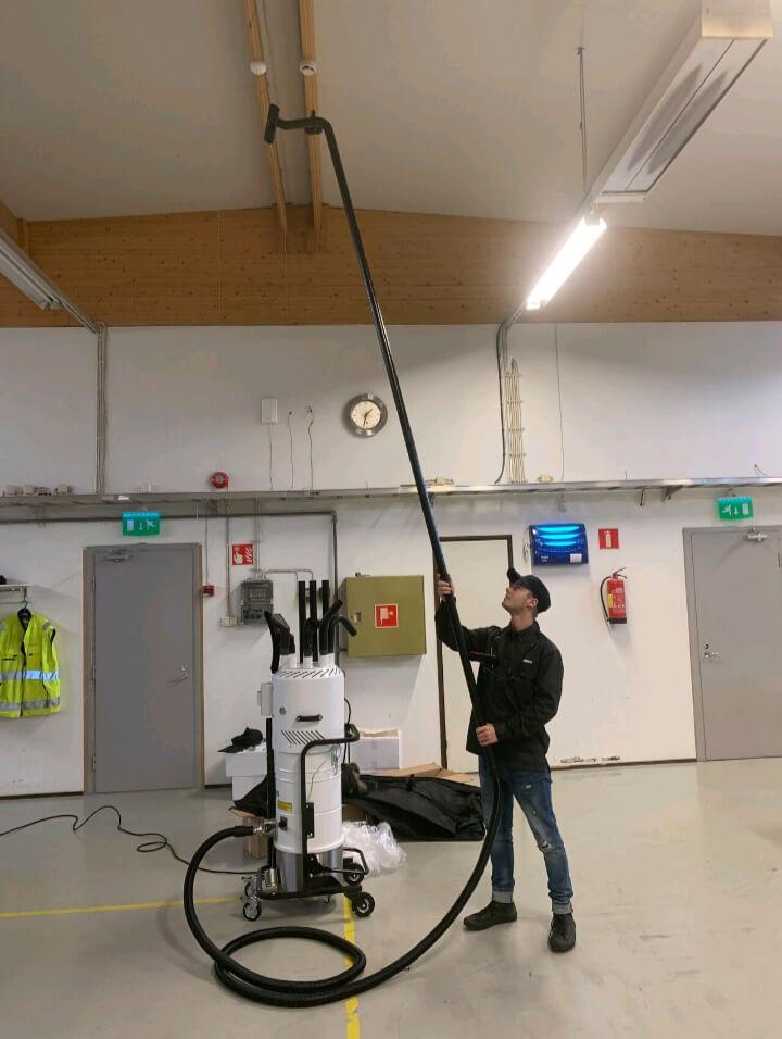 spacevac titan in use in industrial space